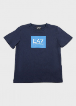 Детская футболка EA7 Emporio Armani с логотипом, фото