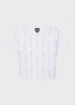 Детская футболка EA7 Emporio Armani с фирменным принтом, фото