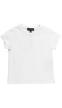 Однотонная футболка Emporio Armani белого цвета, фото