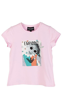 Набор футболок Emporio Armani для девочек с принтом, фото