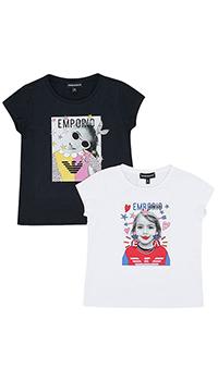 Набор футболок Emporio Armani для девочек, фото