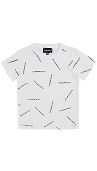 Белая футболка Emporio Armani с логотипом, фото