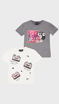 Набор футболок из 2-х штук Emporio Armani для девочек, фото