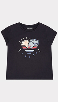 Детская футболка Emporio Armani с рисунком, фото