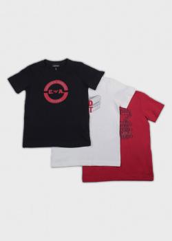 Детский набор Emporio Armani из трех цветных футболок, фото