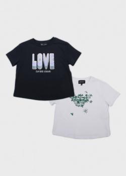 Набор футболок для детей Emporio Armani с принтом 2шт, фото