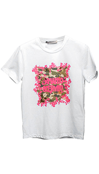 Белая футболка Ermanno Scervino с брендовым принтом, фото