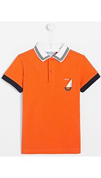 Детская футболка-поло Jacadi с принтом на спине, фото