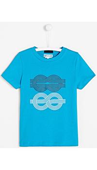 Голубая футболка Jacadi для мальчиков, фото