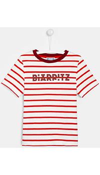 Полосатая хлопковая футболка Jacadi для детей, фото
