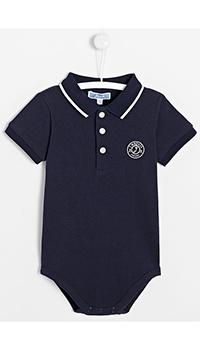 Синий детский боди Jacadi с логотипом, фото