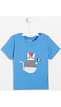 Детская футболка Jacadi с изображением кота, фото