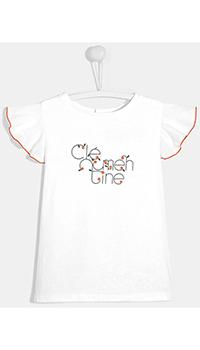 Детская футболка Jacadi белая с принтом, фото