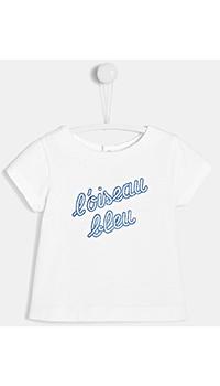 Детская футболка Jacadi с надписью, фото