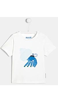 Детская футболка Jacadi с принтом в виде краба, фото