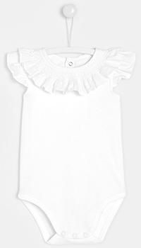 Хлопковый детский боди Jacadi белого цвета, фото