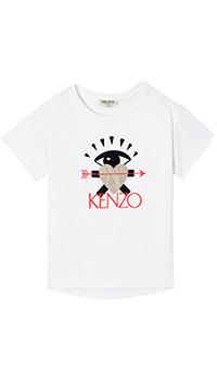 Белая футболка Kenzo с принтом и вышивкой, фото