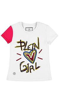 Белая футболка Philipp Plein со стразами, фото