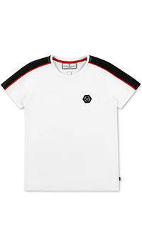Белая футболка Philipp Plein для мальчиков, фото