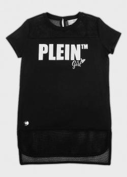 Удлиненная футболка Philipp Plein для девочек, фото