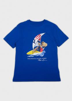 Детская футболка Polo Ralph Lauren с рисунком медведя, фото