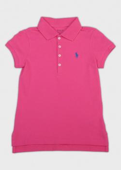 Розовое поло Polo Ralph Lauren для девочек, фото