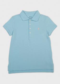 Детское поло Polo Ralph Lauren голубого цвета, фото