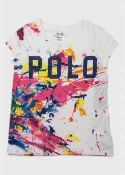 Футболка с принтом Polo Ralph Lauren для девочек, фото