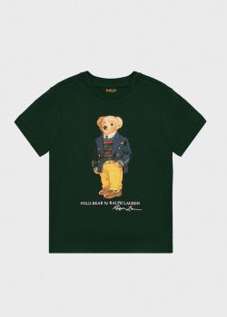 Зеленая футболка Polo Ralph Lauren для мальчиков, фото