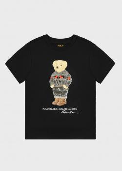 Черная футболка Polo Ralph Lauren для мальчиков, фото