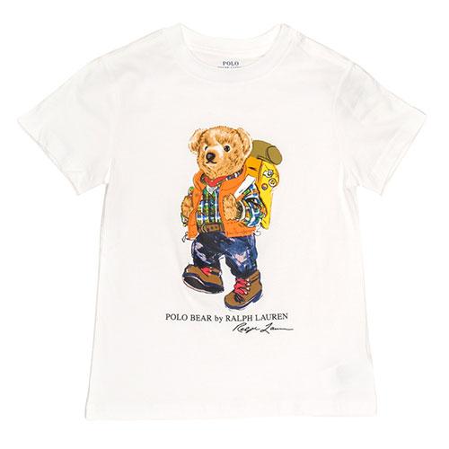 Футболка белая Polo Ralph Lauren с рисунком-медведем, фото