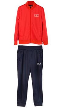 Детский спортивный костюм Ea7 Emporio Armani с брендовым лого, фото