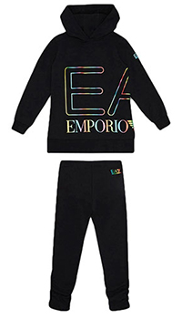 Спортивный детский костюм Ea7 Emporio Armani в черном цвете, фото