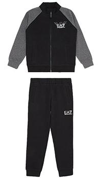Детский спортивный костюм Ea7 Emporio Armani с серыми рукавами, фото