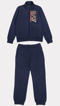 Синий спортивный костюм Ea7 Emporio Armani для детей, фото