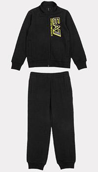 Детский спортивный костюм Ea7 Emporio Armani черного цвета, фото