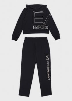 Детский спортивный костюм EA7 Emporio Armani с объемным лого, фото