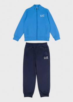 Детский спортивный костюм EA7 Emporio Armani с голубым верхом, фото