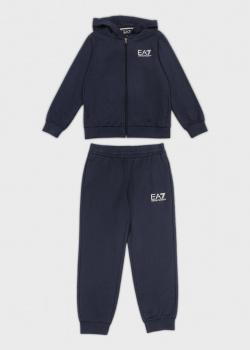 Детский спортивный костюм EA7 Emporio Armani синего цвета, фото