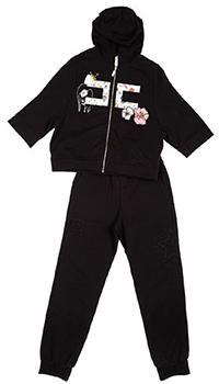 Детский спортивный костюм Elisabetta Franchi черного цвета, фото