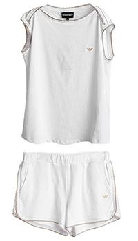 Костюм с шортами Emporio Armani белого цвета, фото