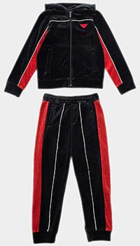 Велюровый спортивный костюм Emporio Armani для девочек, фото