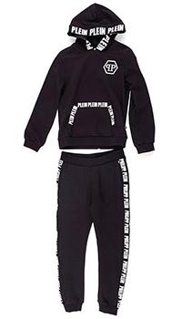 Детский спортивный костюм Philipp Plein Skull черного цвета, фото