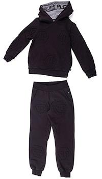 Спортивный костюм Philipp Plein All over PP черного цвета, фото