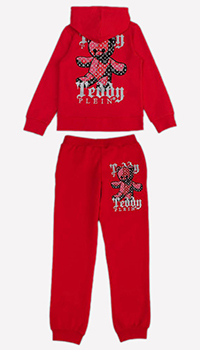 Спортивный костюм Philipp Plein красного цвета для детей, фото