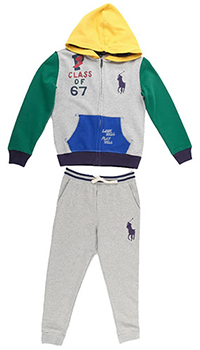 Хлопковый спортивный костюм Polo Ralph Lauren, фото