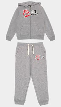 Детский спортивный костюм Polo Ralph Lauren серого цвета, фото