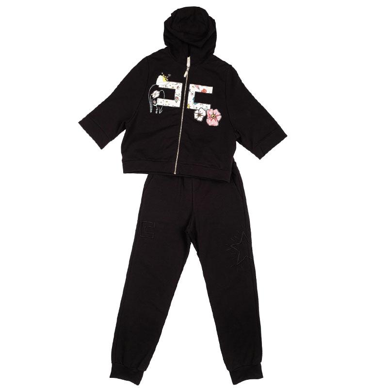 Детский спортивный костюм Elisabetta Franchi черного цвета
