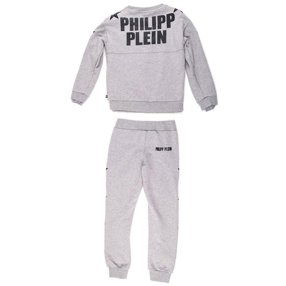 Серый костюм Philipp Plein Stars с декором-звездами