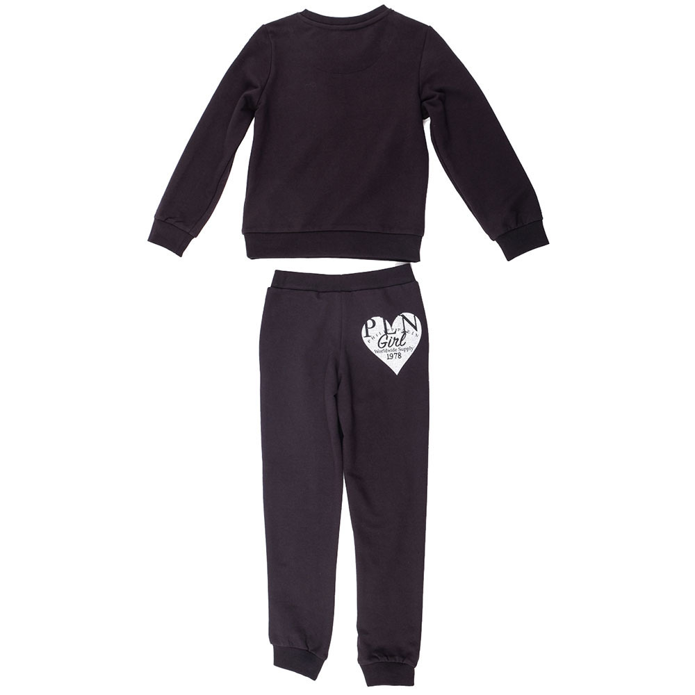 Детский костюм Philipp Plein P.L.N. со стразовым сердцем